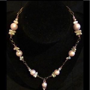 925 Sterling Silver Pink Necklace